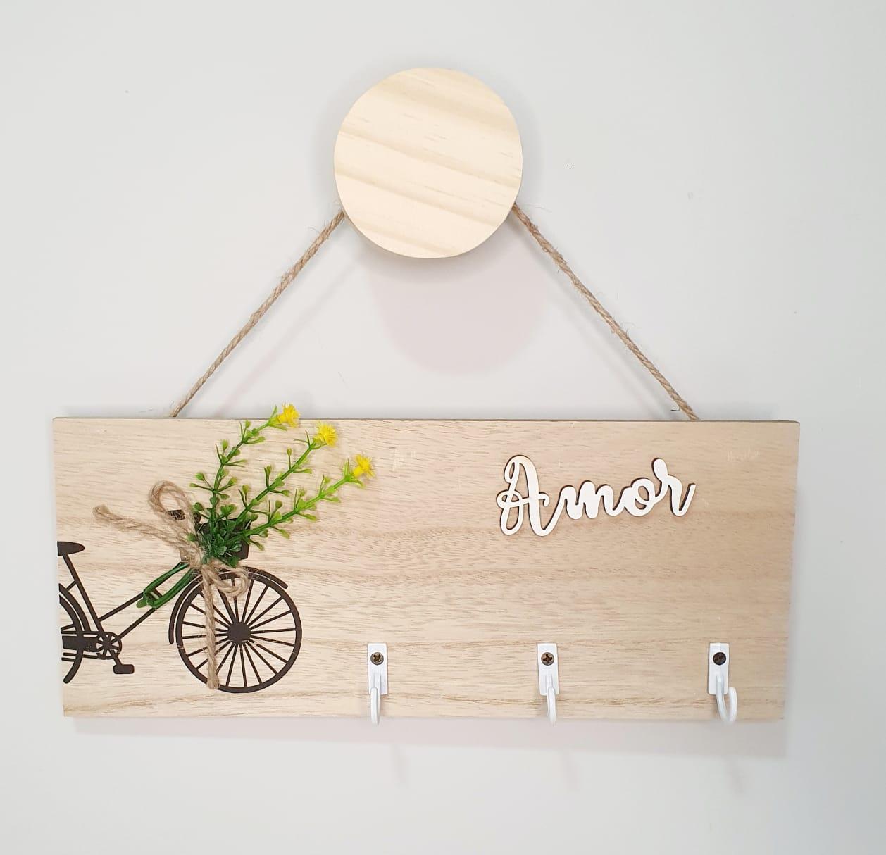 Placa decorativa em MDF - bicicleta
