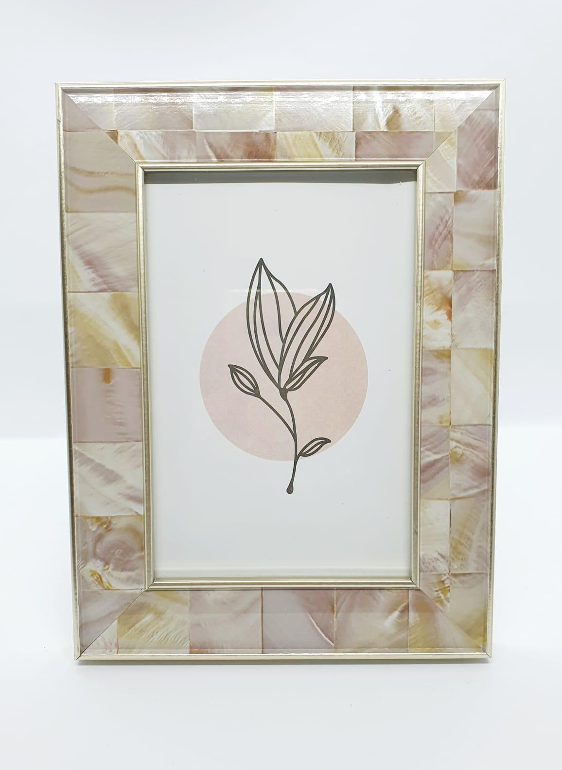 Porta retrato marmorizado rosado Mart - Foto 10x15cm