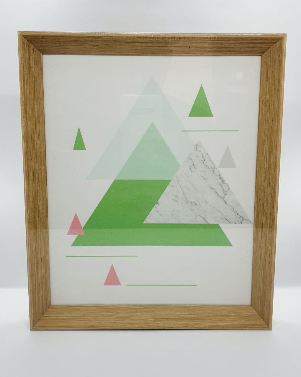 Quadro decorativo com moldura de plástico - Triângulos
