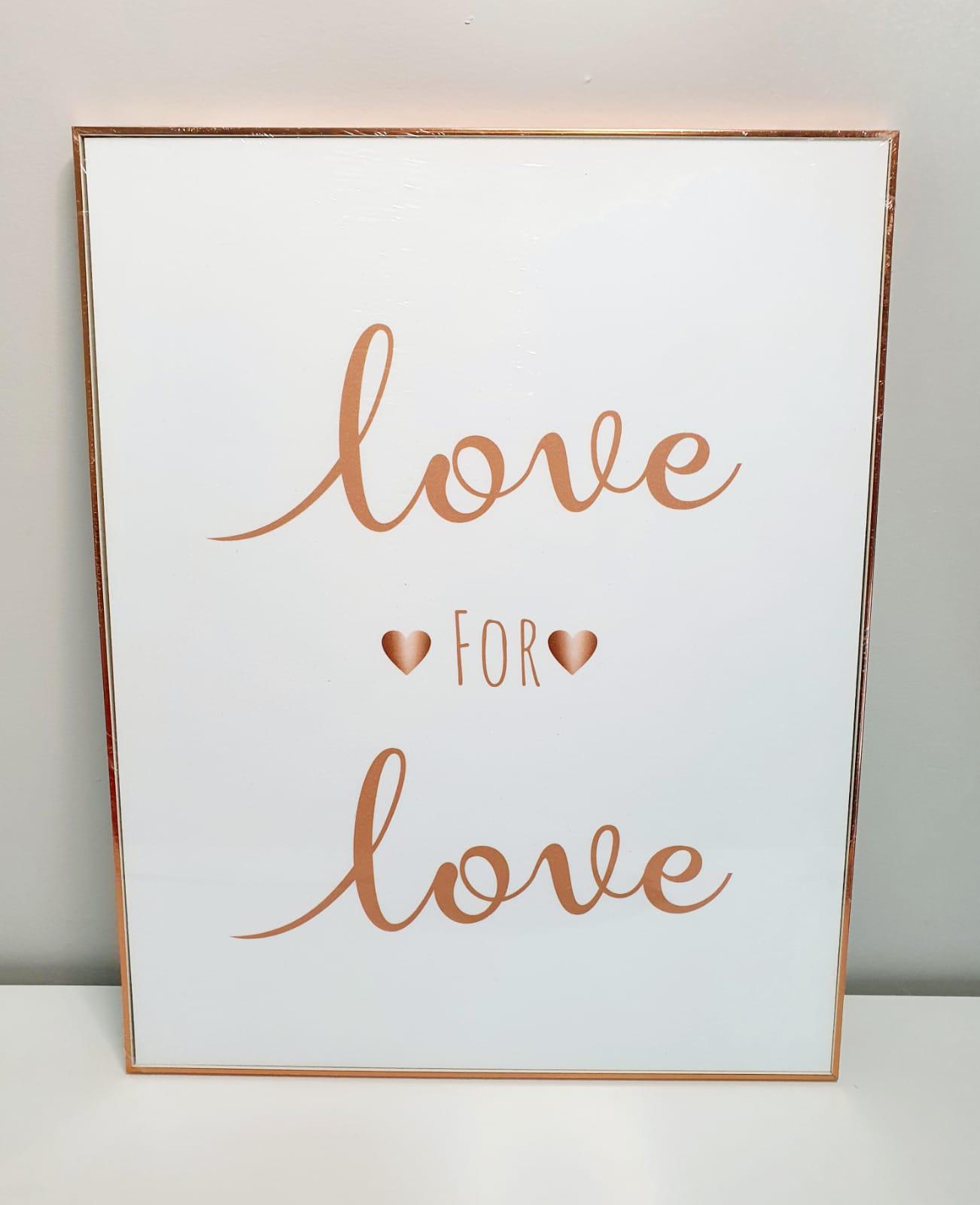 Quadro decorativo - Love for Love