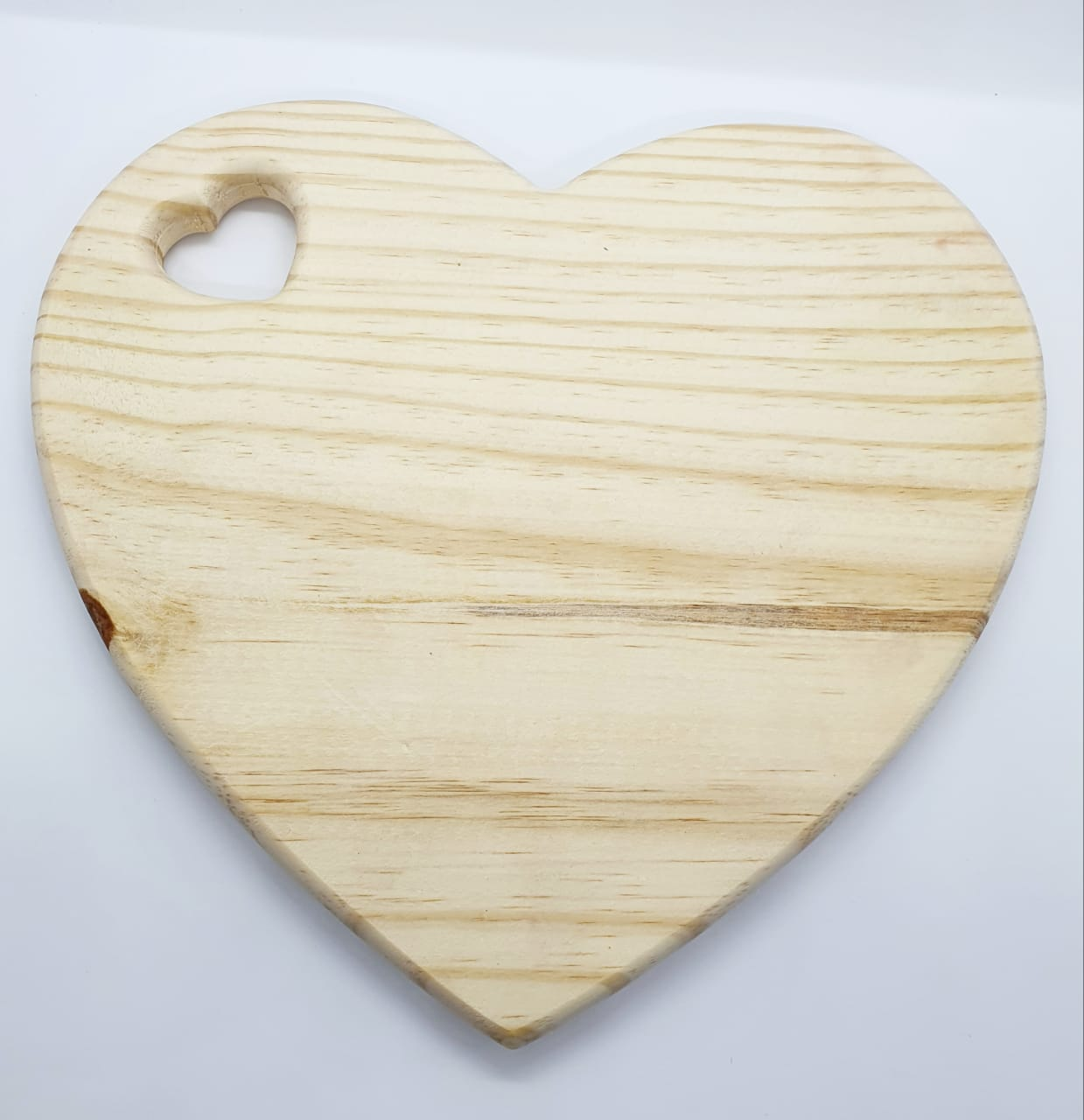 Tábua de madeira - formato coração