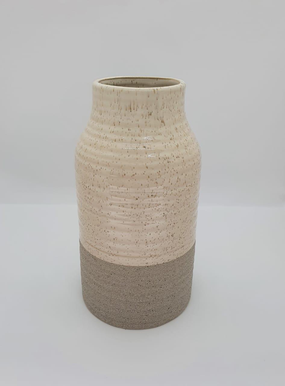 Vaso decorativo em porcelana 2 revestimentos curto