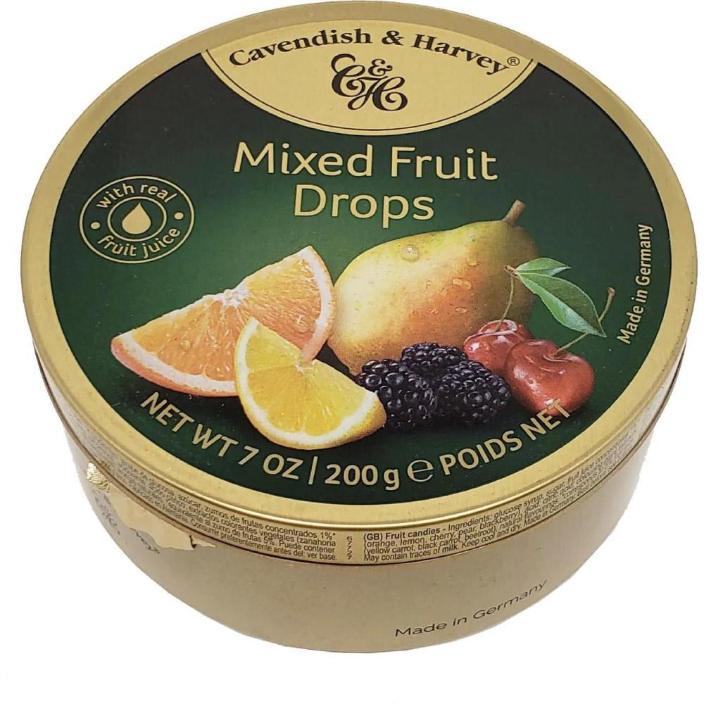 BALA CAVENDISH & HARVEY MIXED FRUIT DROPS 200g - 0% AÇÚCAR