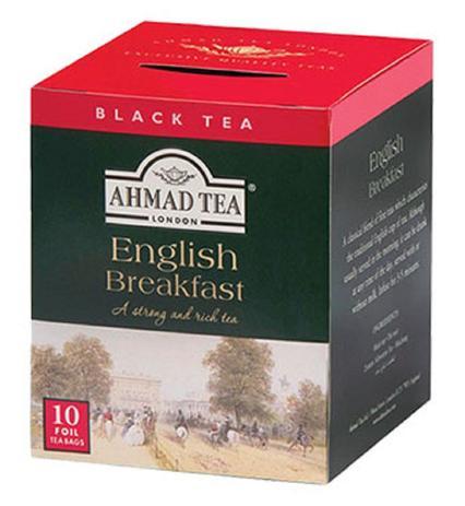 CHÁ AHMAD TEA ENGLISH BREAKFAST COM 10 SACHÊS