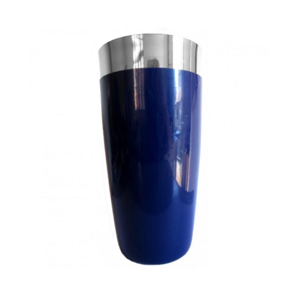 COQUETELEIRA DE INOX AZUL COM VINIL 780ml