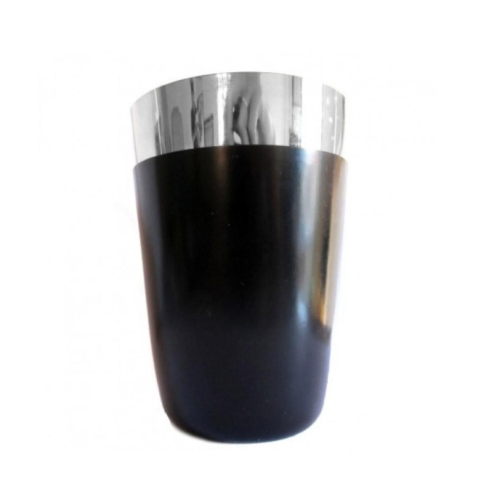 COQUETELEIRA DE INOX PRETA COM VINIL (PEQUENA) 480ml