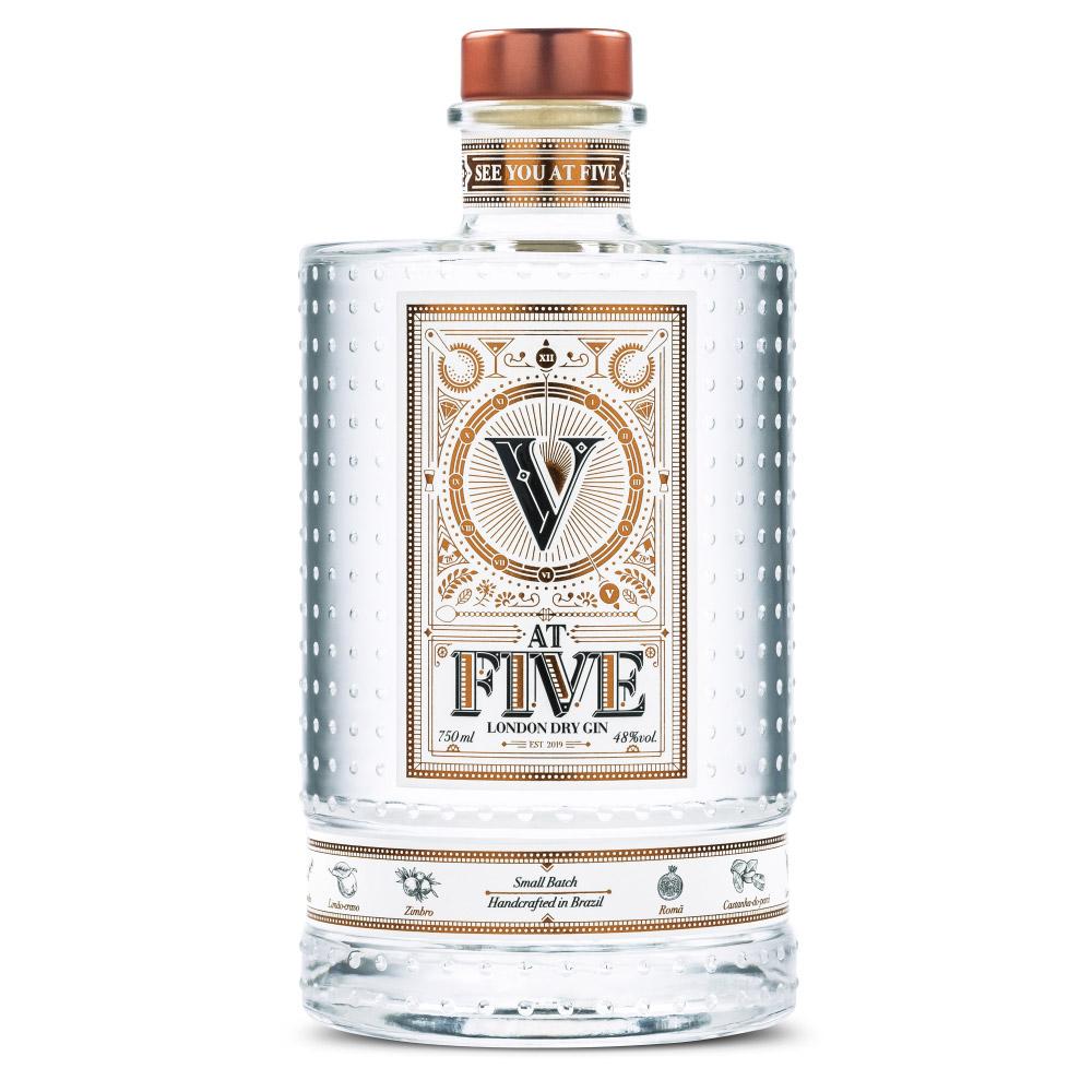 GIN V AT FIVE 750ml