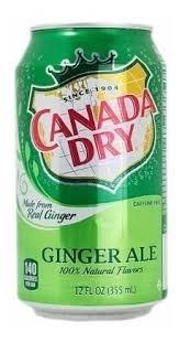 REFRIGERANTE GINGER ALE CANADA DRY  355 ML
