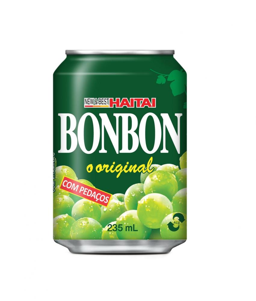 SUCO DE UVA VERDE COM PEDAÇOS - BONBON HAITI 235ML