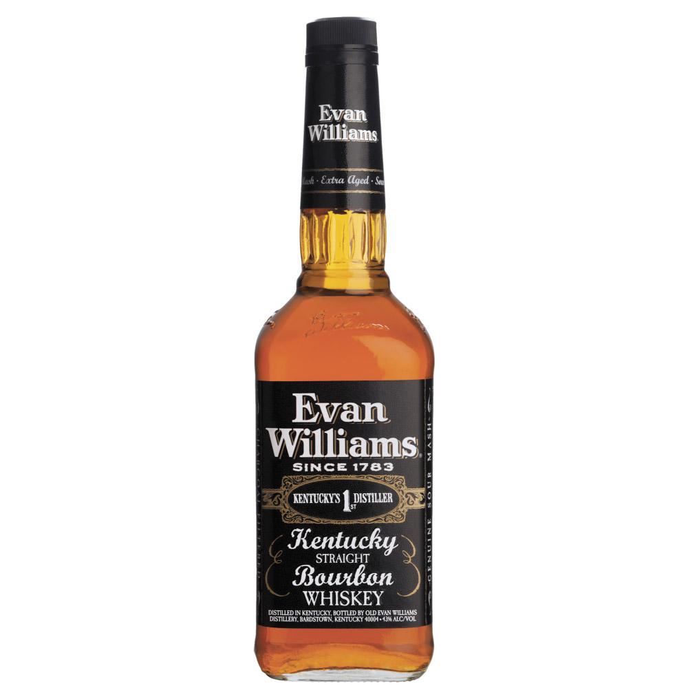 WHISKY EVAN WILLIAMS BLACK BOURBON 1Litro