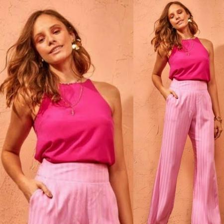 Blusa Crepe Basic Pink