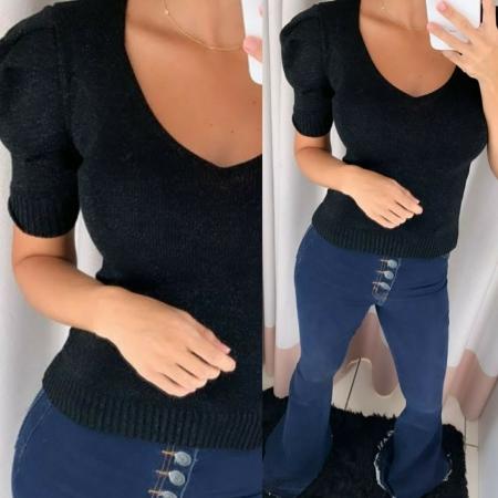 Blusa Tricozinho Lurex