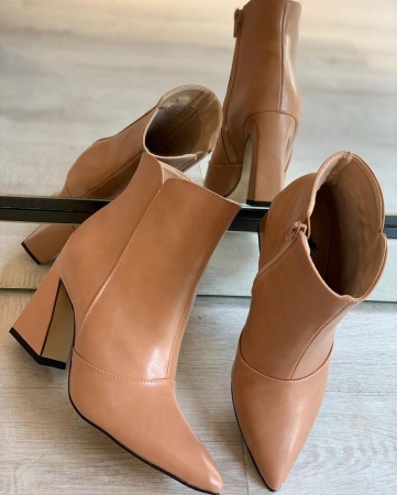 Bota Ankle Boot Nude