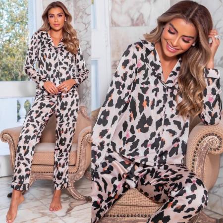 Pijama Animal Print Calça