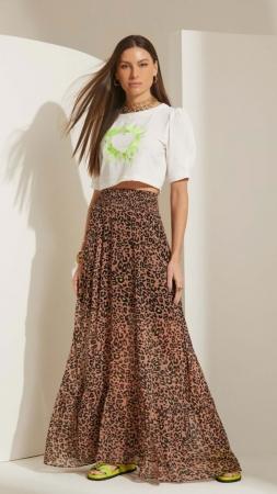 Saia Lime Leopardo