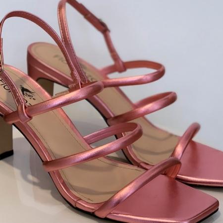 Sandália Rose Metalizada