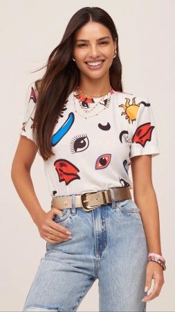 T-shirt Estampa Pop