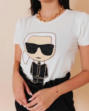 Tshirt Bordada Karl Lagerfeld