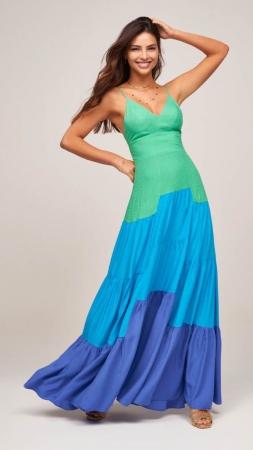 Vestido Longo Multicolor