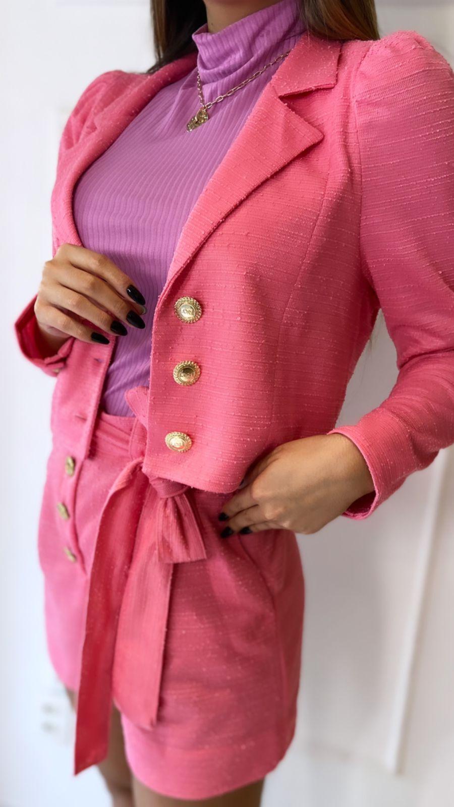 Blazer Cropped Tweed