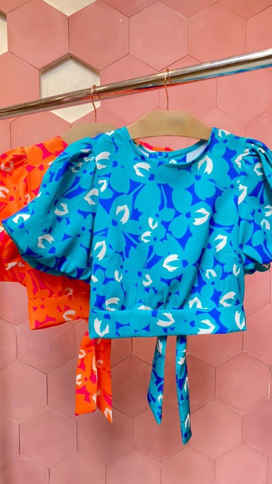 Blusa Balonê Flower Color