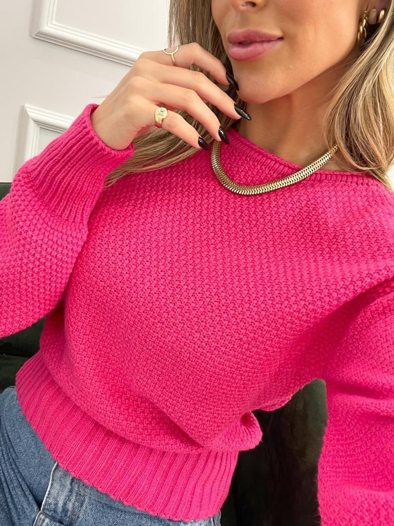 Blusa Tricot Rosa