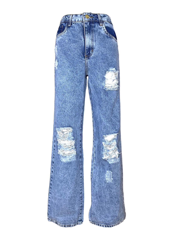 Calça Jeans Wide Leg