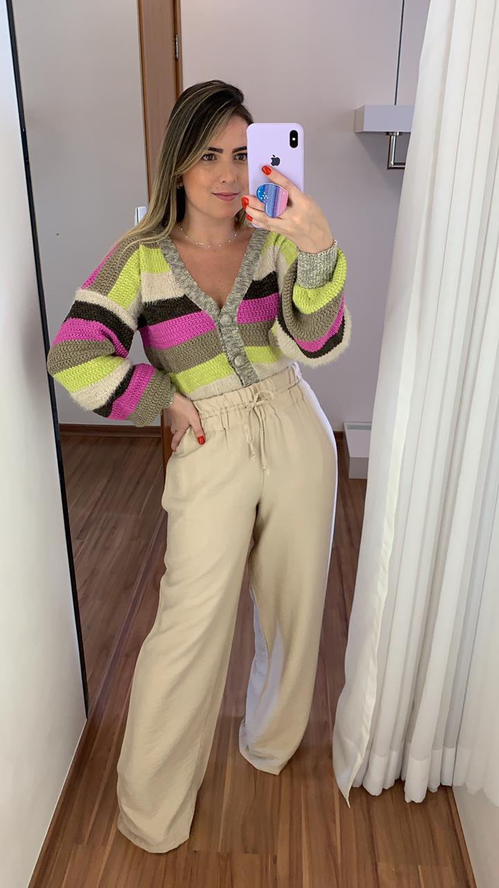 Calça Pantalona Cru