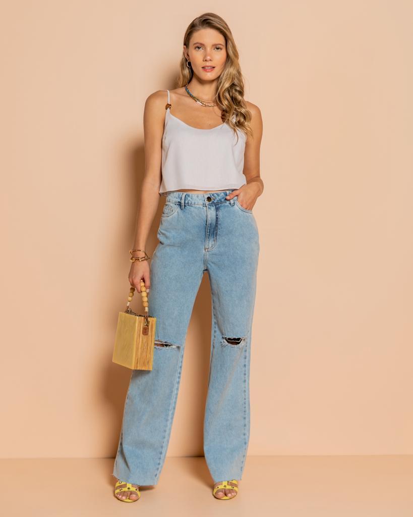 Calça Wide Jeans