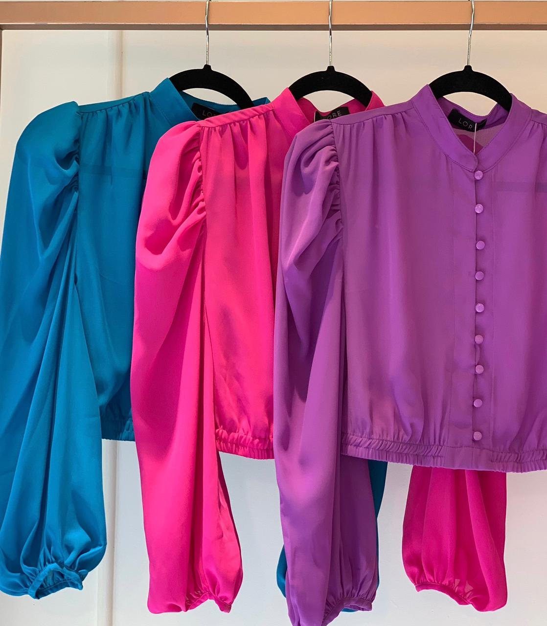 Camisa Crepe Color