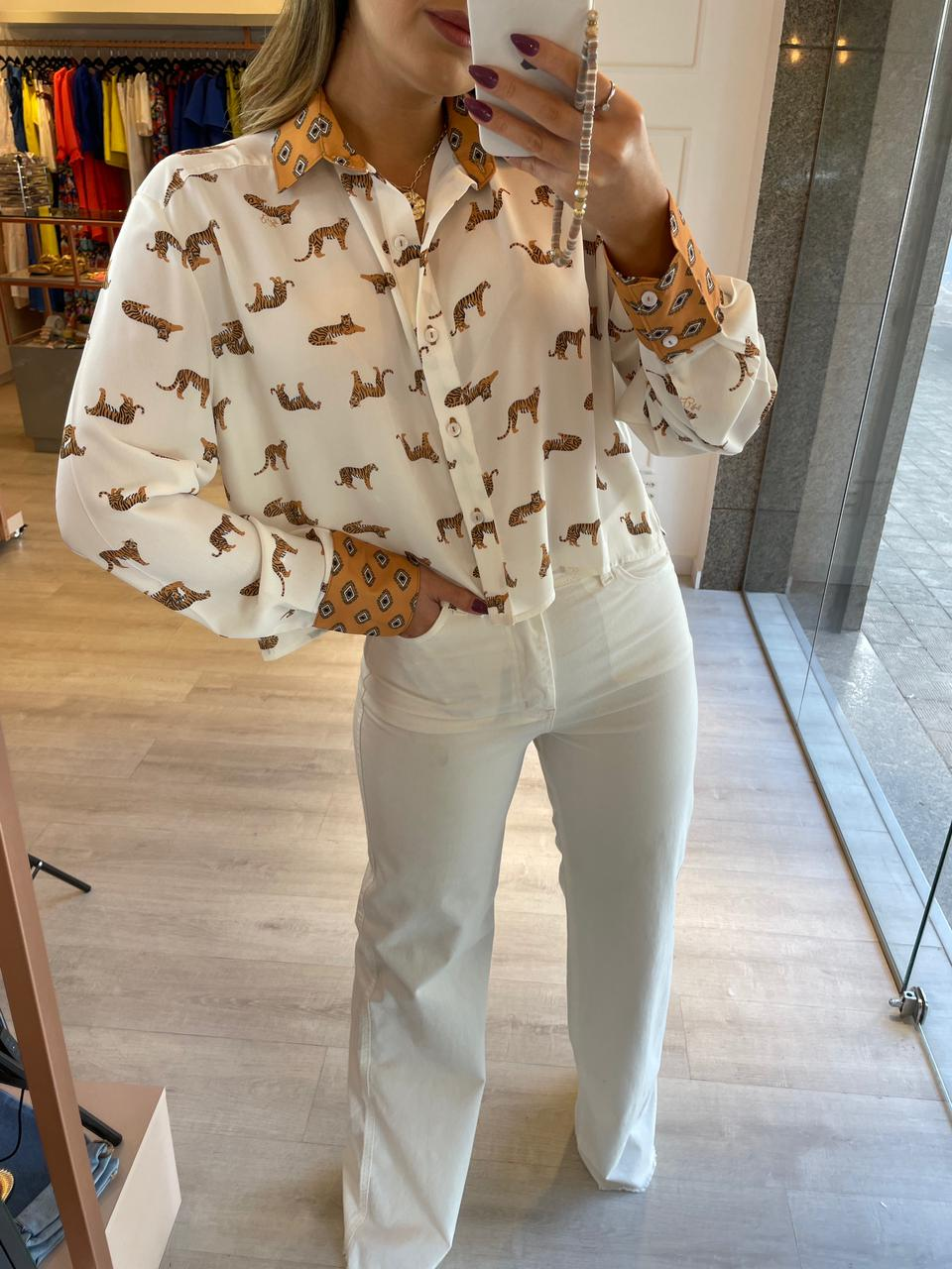 Camisa Cropped África
