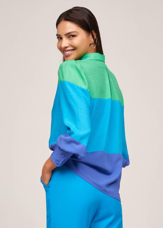 Camisa Recortes Arco Iris