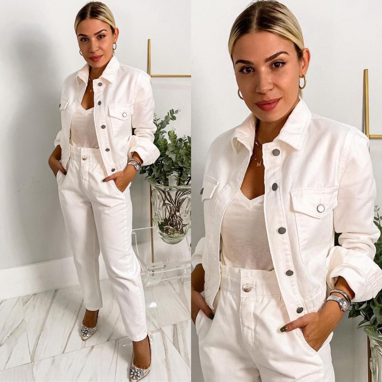 Jaqueta Jeans Branco
