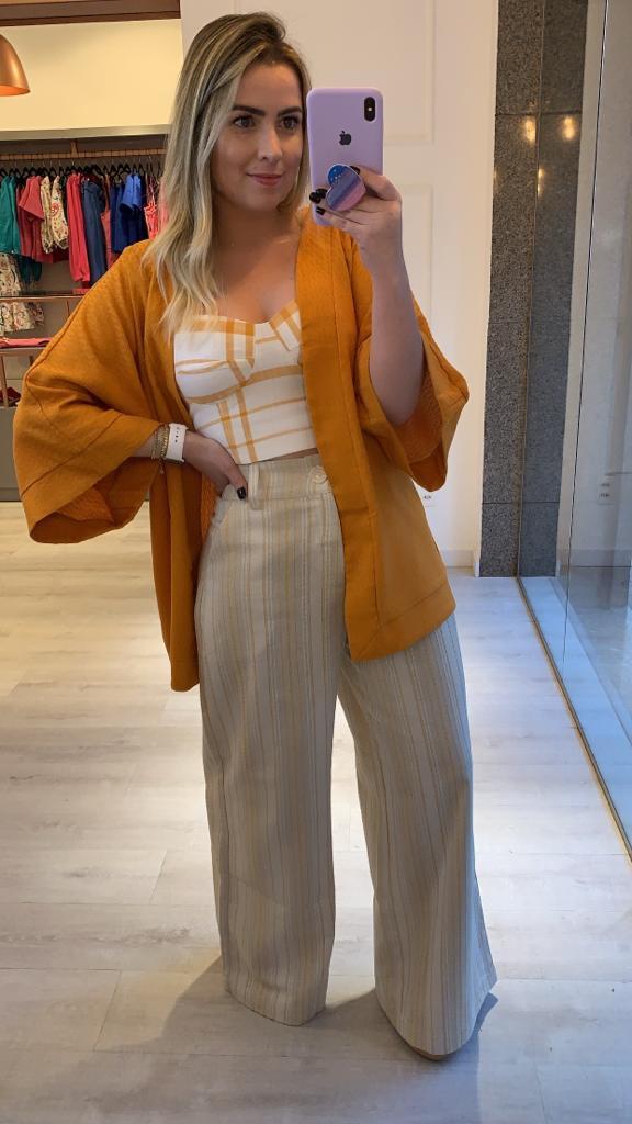 Kimono Amplo Linho