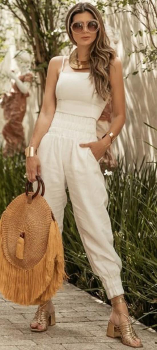 Regata de Linho Adriana Off White