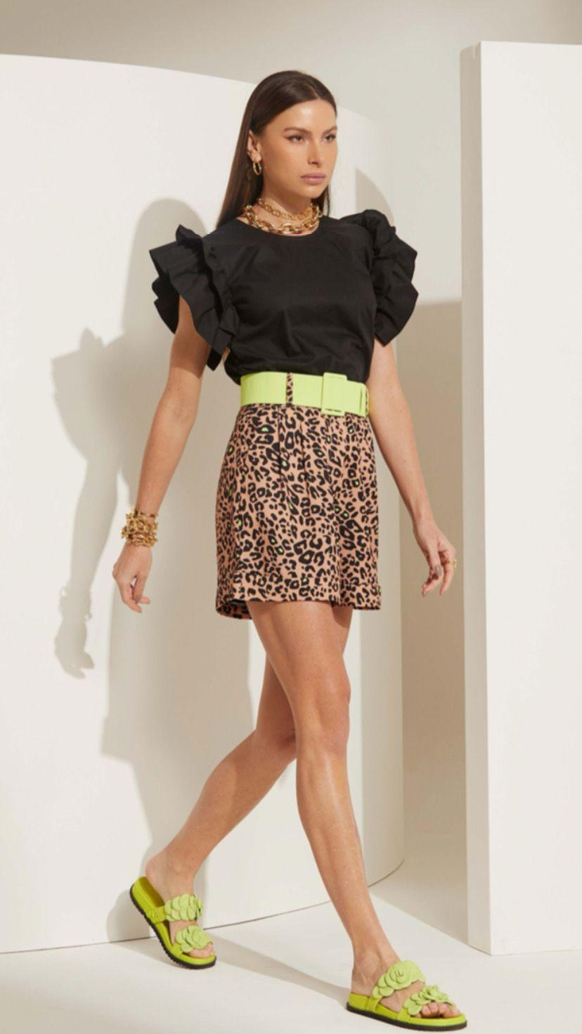 Short Lime Leopardo