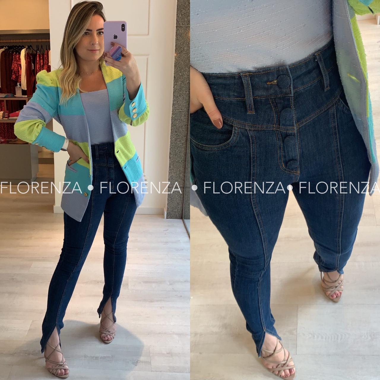 Skinny Jeans Botões
