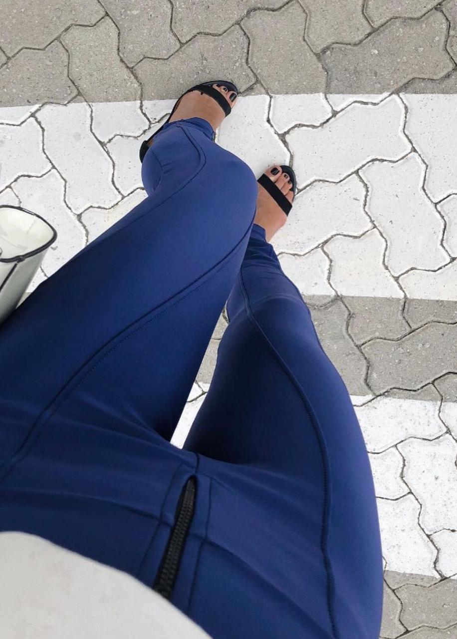 skinny Malha Prada Azul Marinho