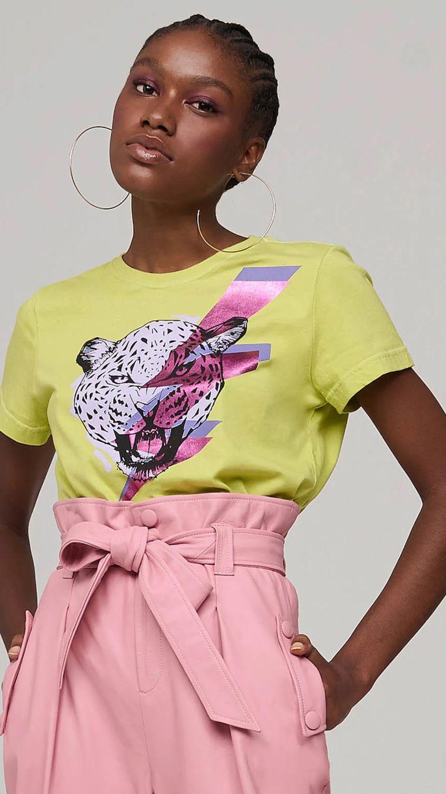 T Shirt Leopardo