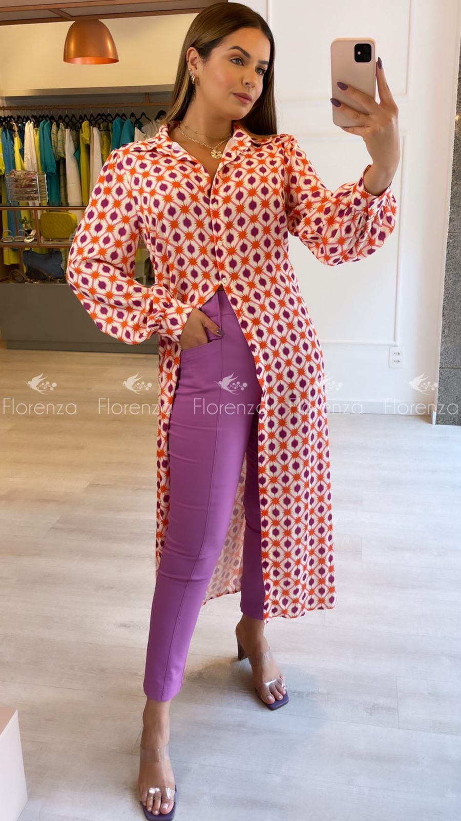 Vestido Chemise Print