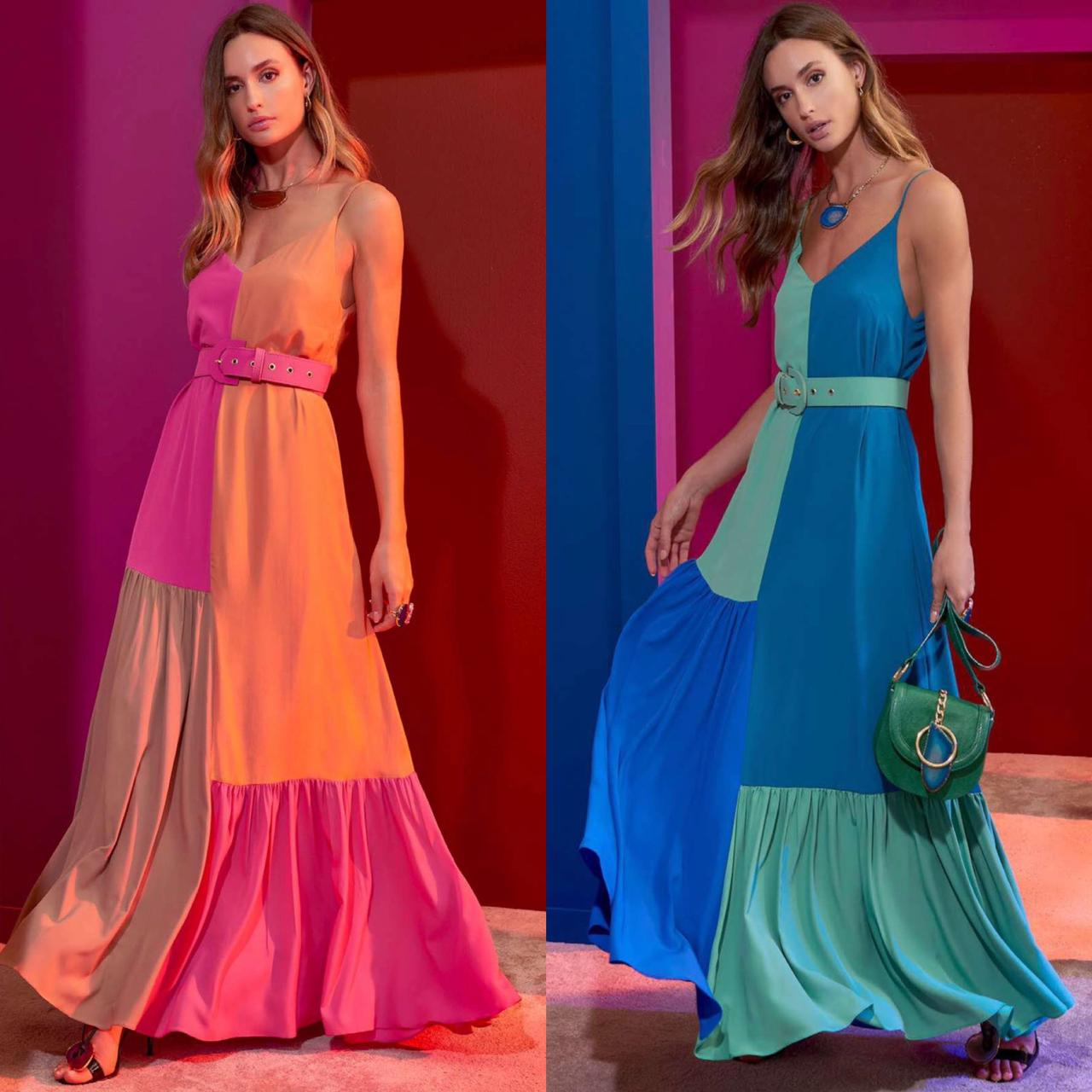 Vestido Crepe Color