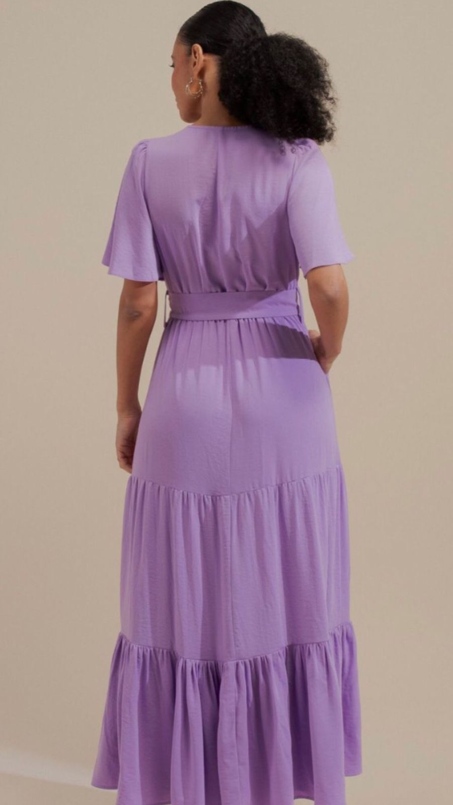 Vestido Crepe Twill