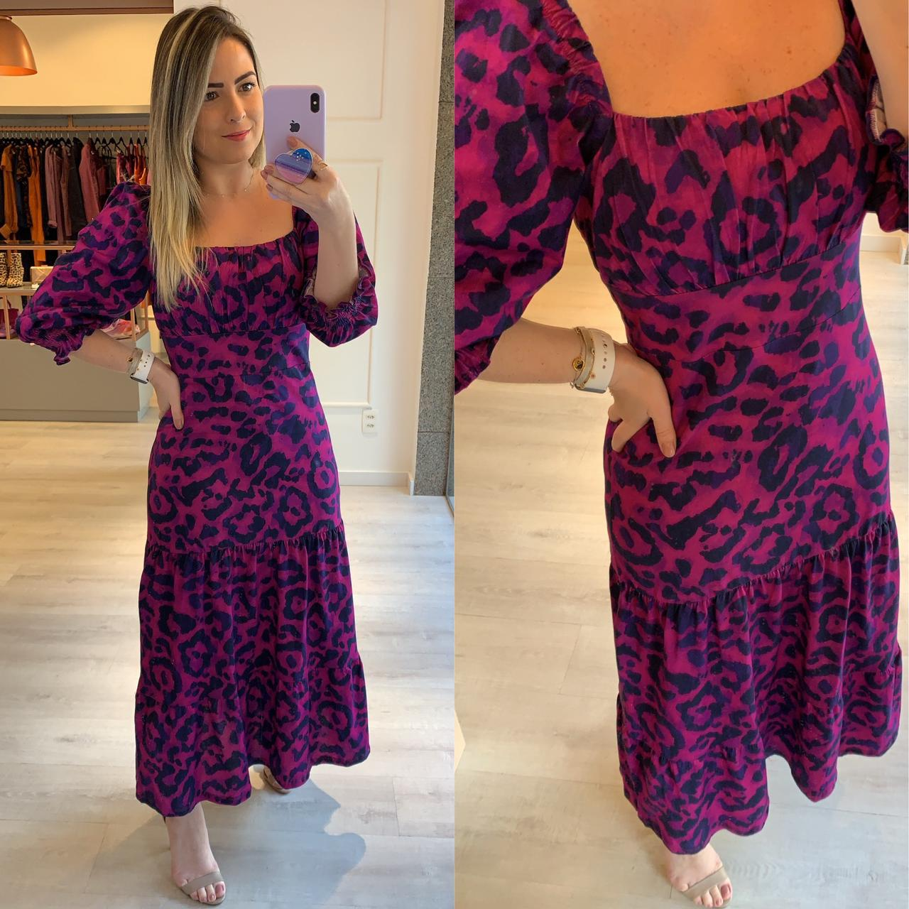 Vestido Estampa Animal Print