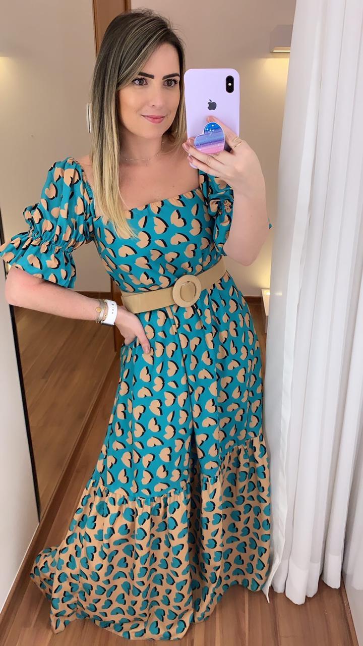 Vestido Estampa Coração