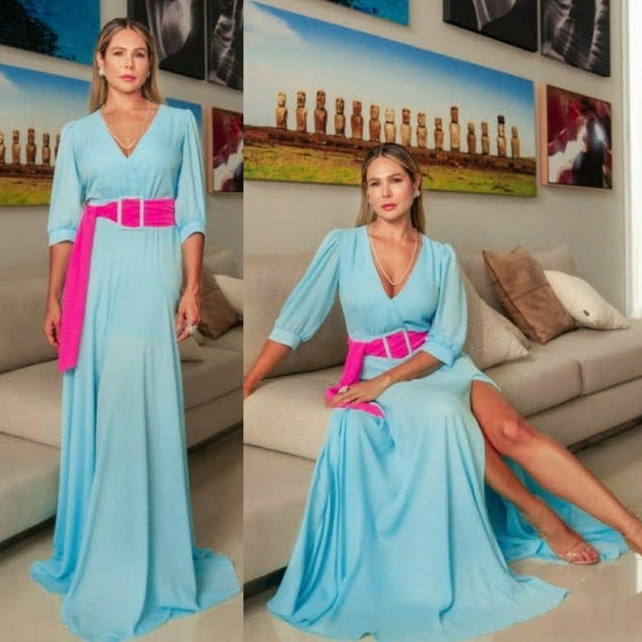 Vestido Lana Azul