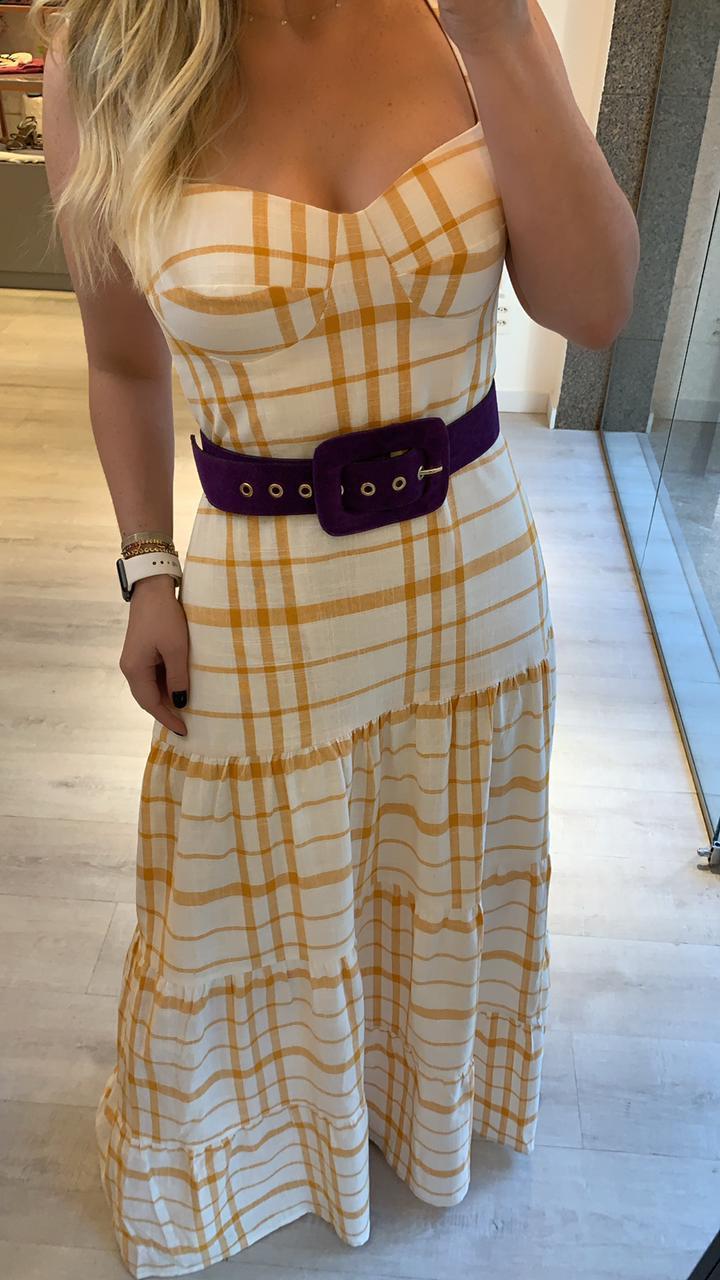 Vestido Linho Vichy