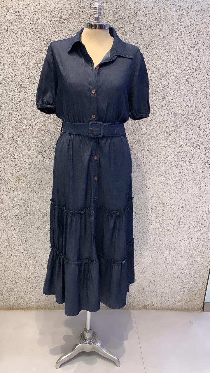 Vestido Maxi Midi Jeans