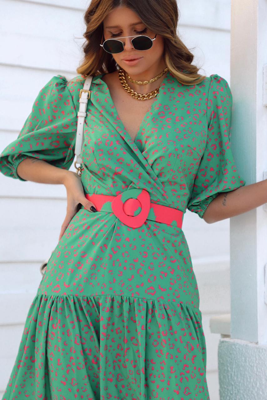 Vestido Midi Camadas