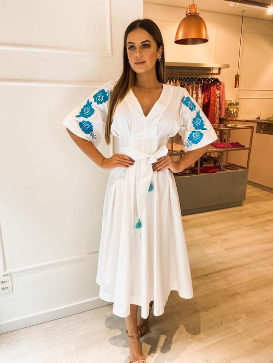 Vestido Midi Tricoline