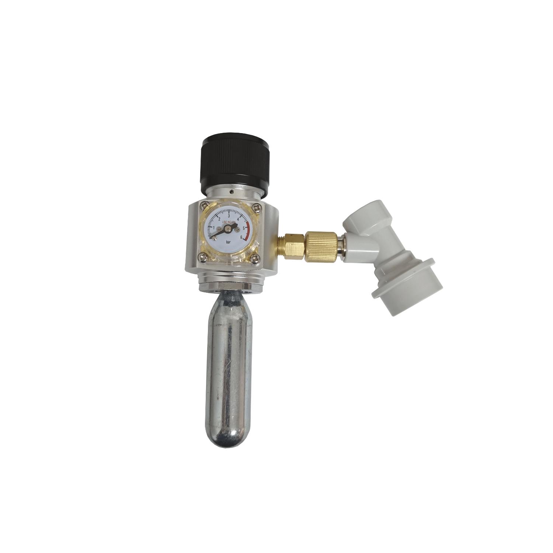 Mini Regulador Profissional Co2 + Ball Lock Para Gás